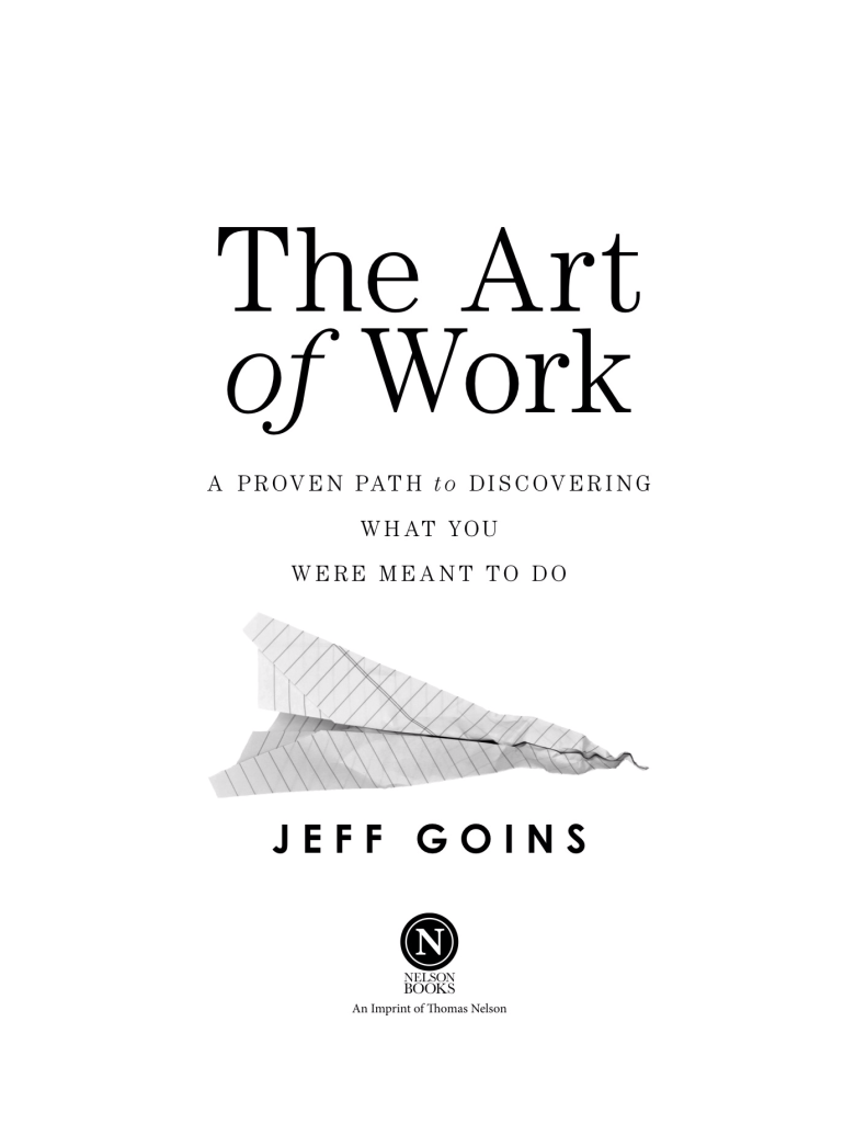 Picture of Jeff Goins' book,